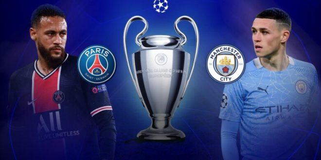 مباراة باريس سان جيرمان ومانشستر سيتي بتاريخ 28-04-2021 دوري أبطال أوروبا